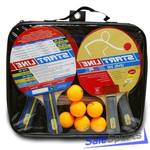 Набор 4 Ракетки Start Line Level 200, 6 Мячей Club Select, Сетка с креплением, упаковано в сумку на