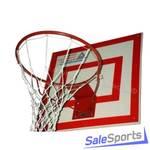 Кольцо баскетбольное метал №7 труба 21мм стандартное б/сетки диам. 450мм, ФСИ