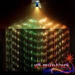 Пучок фибероптических волокон с боковым точечным свечением Звездный дождь 100 волокон по 2 метра,