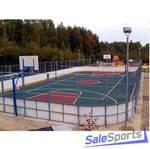 Универсальная спортивная площадка 20х40м с бортами