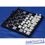 Шахматы-шашки магнитные пластиковые с доской 36 см, ШП