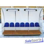Кабина для запасных игроков Stex с подогревом на 7 сидений