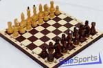 Шахматы турнирные лакированные с тёмной доской E-7, Орловская ладья