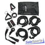 Набор эспандеров Sportsteel 1213-16 Resistance Band Kit 4 жгута в защитных кожухах