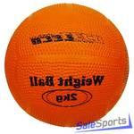 Мяч для атлетических упражнений резиновый 2 кг Leco т2208