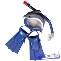 Набор Дельфин маска, трубка, ласты Ocean ORS6012