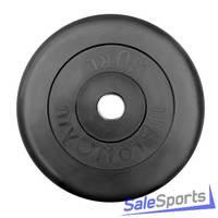 Диск Profigym тренировочный обрезиненный черный 10 кг