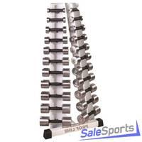 Стойка с набором хромированных гантелей от 0,5 до 10 кг V-Sport ST-410