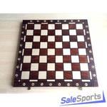 Шахматная доска деревянная складная 54 см Амбассадор, ШП