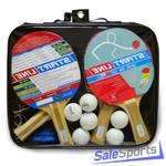 Набор 4 Ракетки Start Line Level 100, 6 Мячей Club Select, Сетка с креплением, упаковано в сумку на
