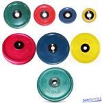 Диск обрезиненный цветной МВ Barbell 51 мм, евро-классик