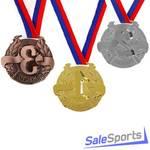 Медаль призовая Onlitop Триколор 006 70мм