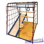 Детский спортивный комплекс Вертикаль Весёлый малыш Maxi с горкой и мягкими бортиками