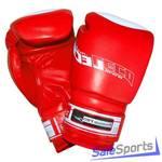 Перчатки боксерские 8 унц.красные, Премиум ПРО (натуральная кожа), Т00201