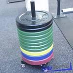 В-022 Вертикальный мобильный стеллаж для дисков, Hercules