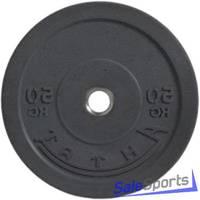Диск для кроссфита, бампер, черный 50 кг